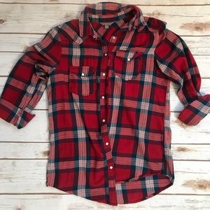 Button Up rubbish by Nordstrom brand plaid shirt